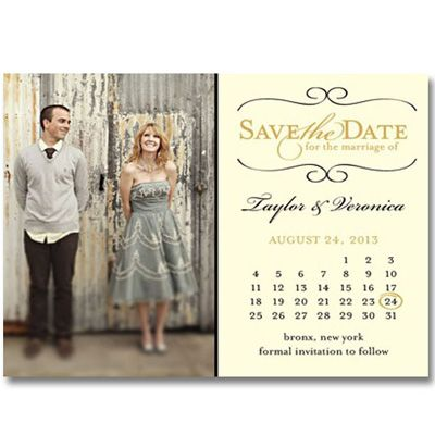 Vintage Save The Date Magnets AUM011