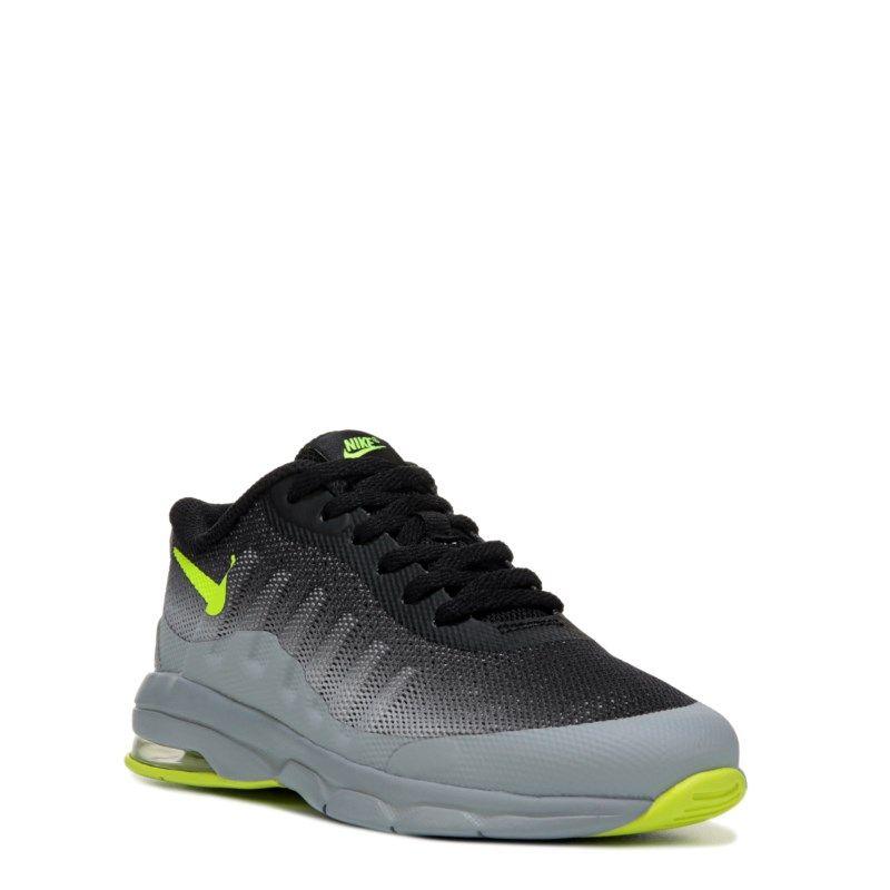 Black · Nike Kids' Air Max Invigor Running Shoe Preschool Shoes (Grey/Black/ Volt