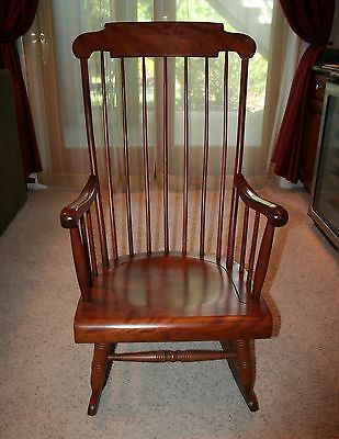 Nichols Stone Solid Cherry Rocking Chair Excellent