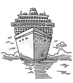Ccfabbcefdbadacruiseshipsdrawingsofjpg - Cruise ship drawings