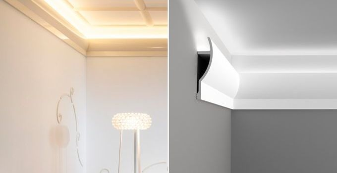 Good Malerische Wohnideen Stuckleisten Lichtleisten Wandgestaltung LED a Wohnideen Pinterest Lights and House