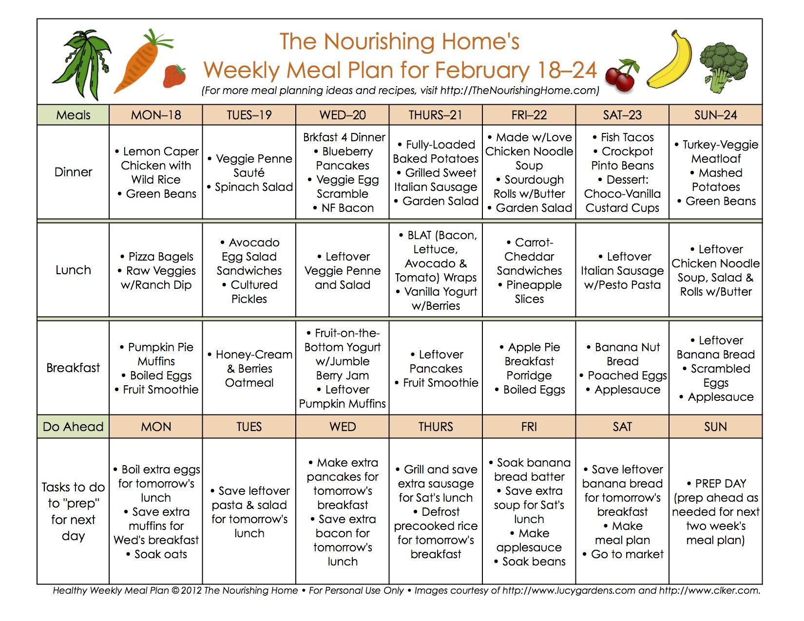 FREE Whole Food Meal Plans & Recipes - lots of NEW recipes this ...