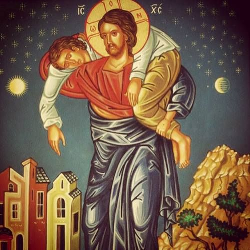 Drawn by Iconographer John Rigby at St. Constantine and Elena Orthodox Church, Indianapolis, IN.