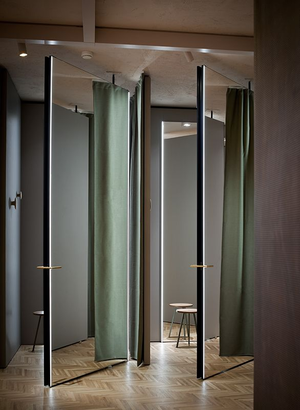 Studiopepe MaxCo Interior - Fitting room Pinterest Retail