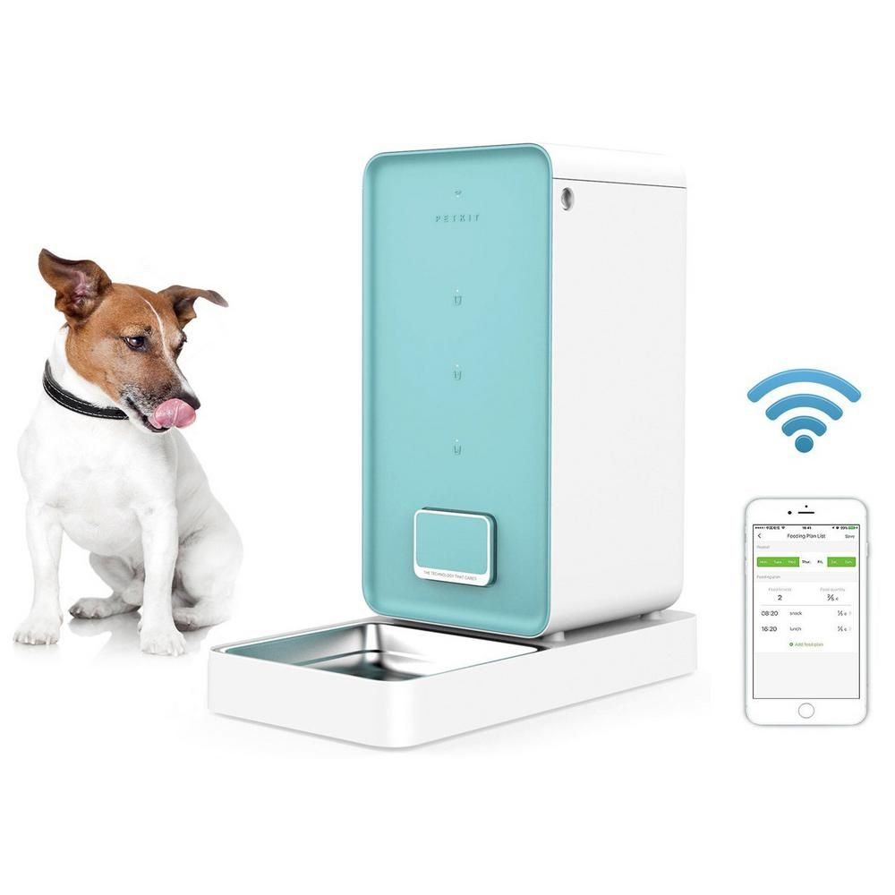 Petkit 1 58 Gal Blue Wi Fi Enabled Smart Pet Food Container