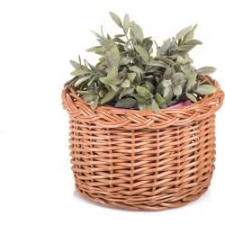 Photo of Basket of flowers from willow Flor Ii. – wicker basket Ø 17 x H 12 (cm)