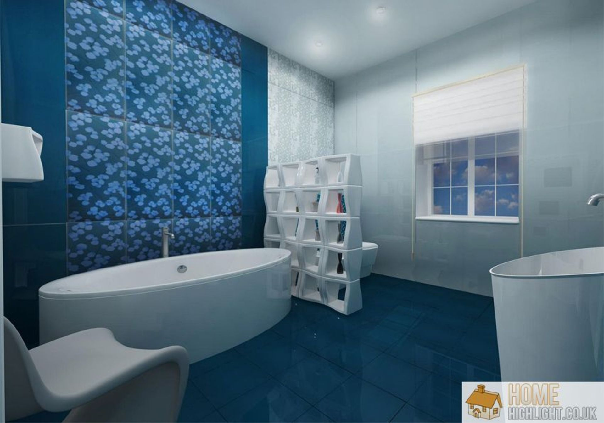 Futuristic Blue Bathroom Design Interior Images Bathroom Ideas Blue And Grey Bathroom Photo Bathroom Wall Tile Design Blue Bathroom Contemporary Bathroom Tiles
