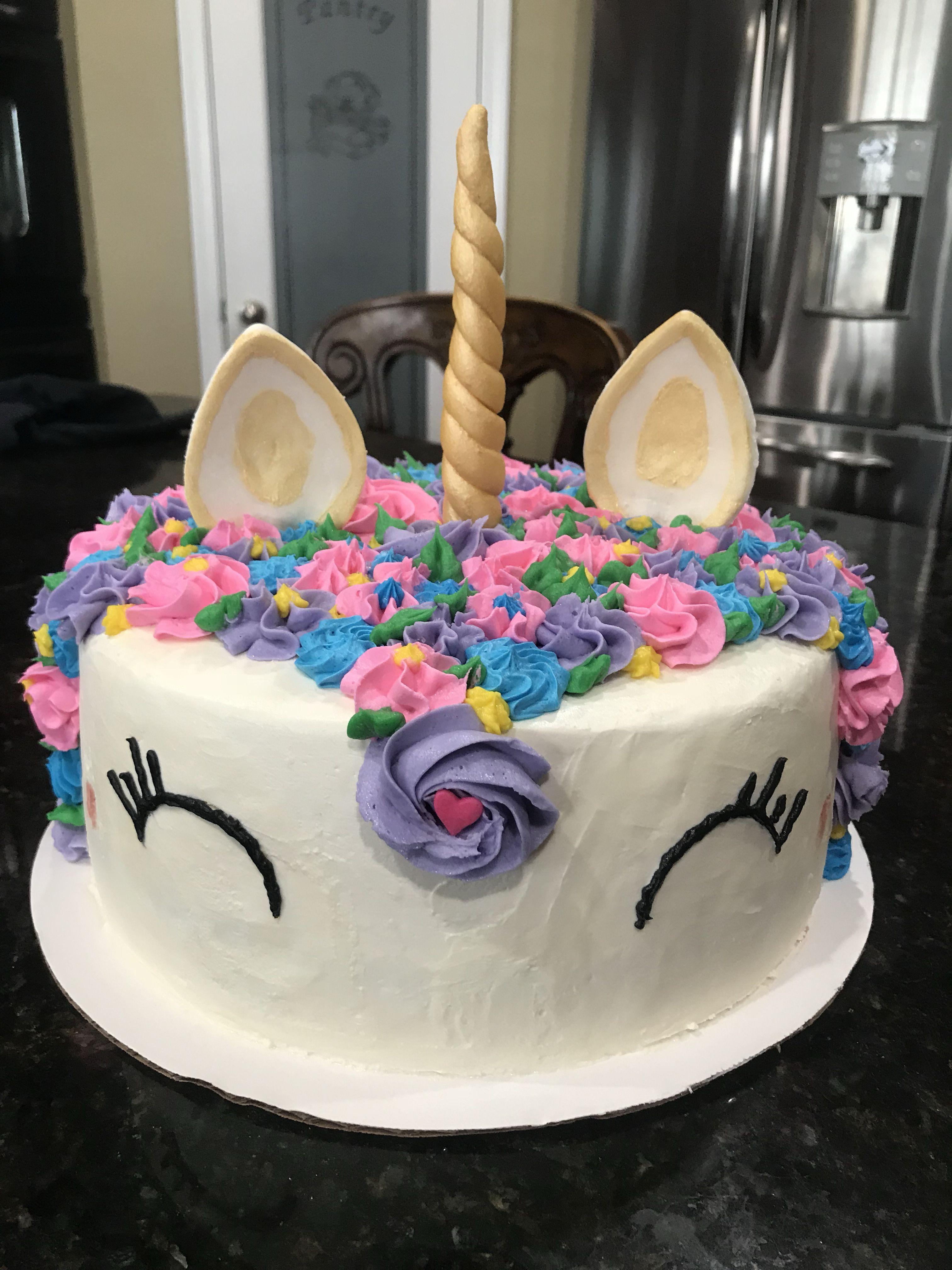 Strawberry Unicorn Cake Bakery Birthday Desserts Food