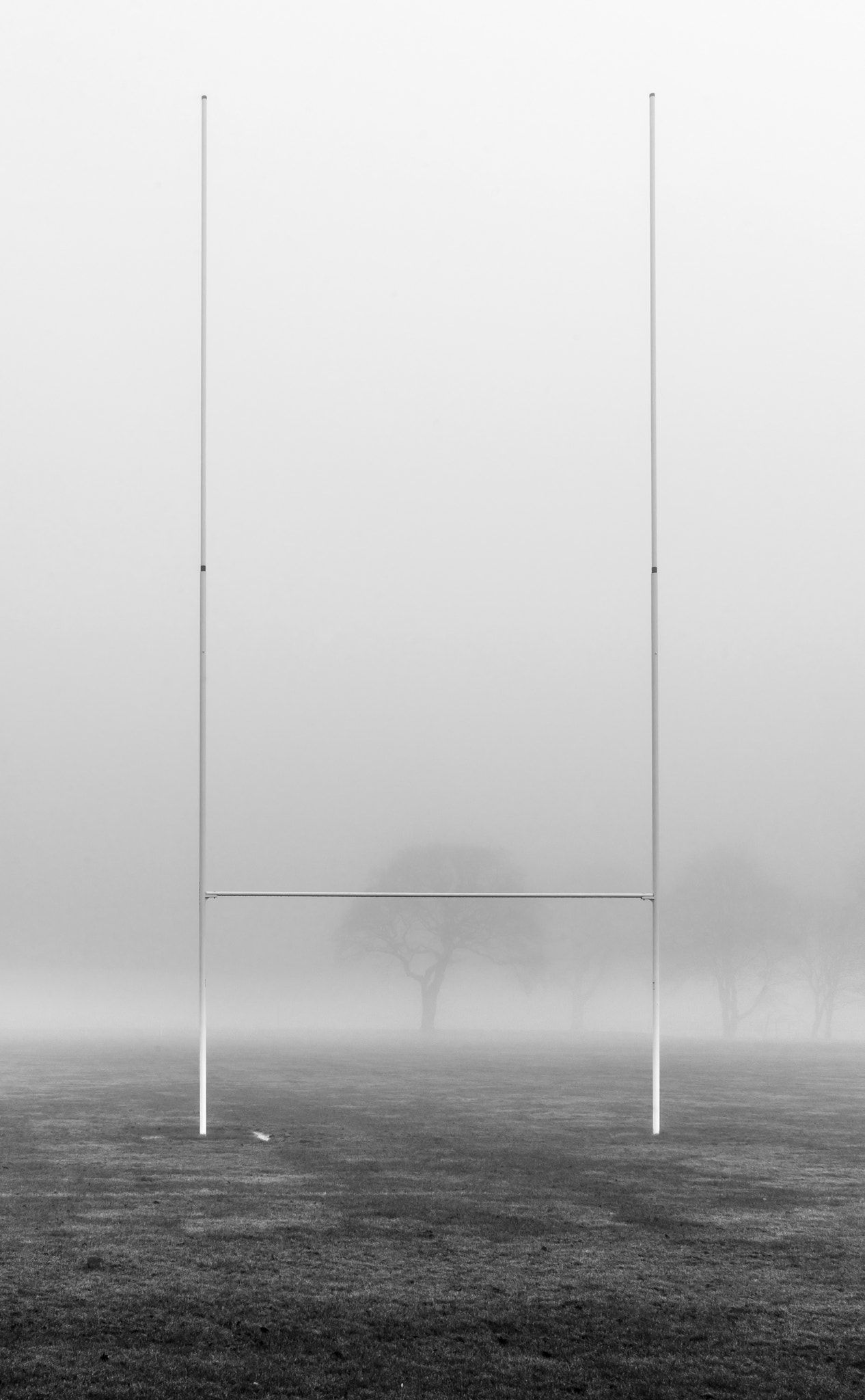 Rugby Goal Post In Fog A Rugby Goal Post In The Field Rugby Sport Rugby Photography Rugby Poster