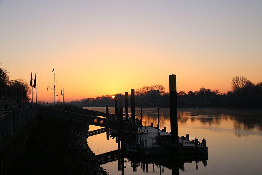 Sonnenaufgang Weser Bremen-Mitte   Bremen   Pinterest