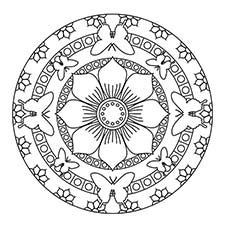 Mandala Coloring Pages Butterfly