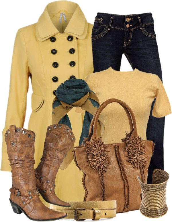 17 Best images about Brown and Yellow Outfits on Pinterest | Mustard yellow,  Boots and Brown