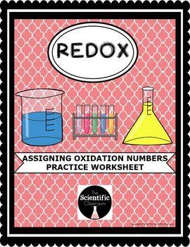 REDOX: Oxidation Numbers Practice Worksheet | Chemistry | Ap ...