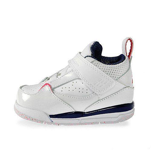 Air Jordan Flight 45 White Night Blue Fireberry Toddler Baby Sneakers (TD)  Jordan.  44.95 12362dd16a