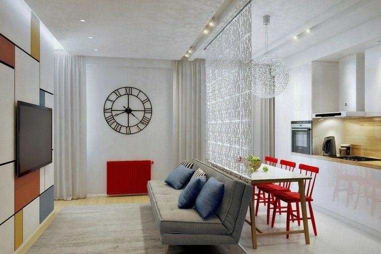 Sedie Rosse Cucina : Gruppo di sedie design da cucina rosse bianche ava miliboo