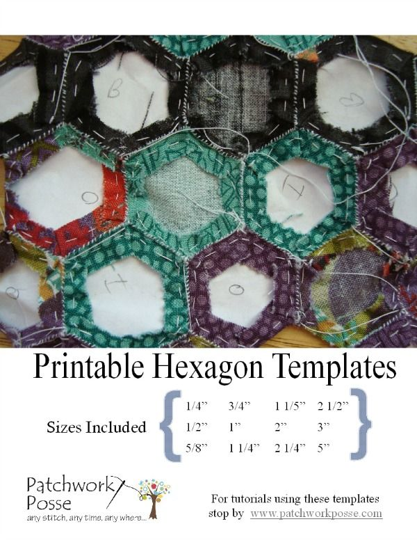 Printable Hexagon Template For Quilting Pdf Download English Paper Piecing Quilt Patterns English Paper Piecing Quilts