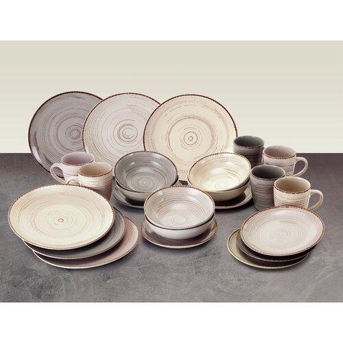 Brambly Cottage Royal 24 Piece Dinnerware Set Service For 6 Stoneware Dinnerware Sets Stoneware Dinnerware Melamine Dinnerware Sets