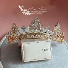 Golden Crystal Queen Crown Tiara Bridal Wedding Headband Hair Accessories 2016 : Want more? https://bitly.com/showmemorepls