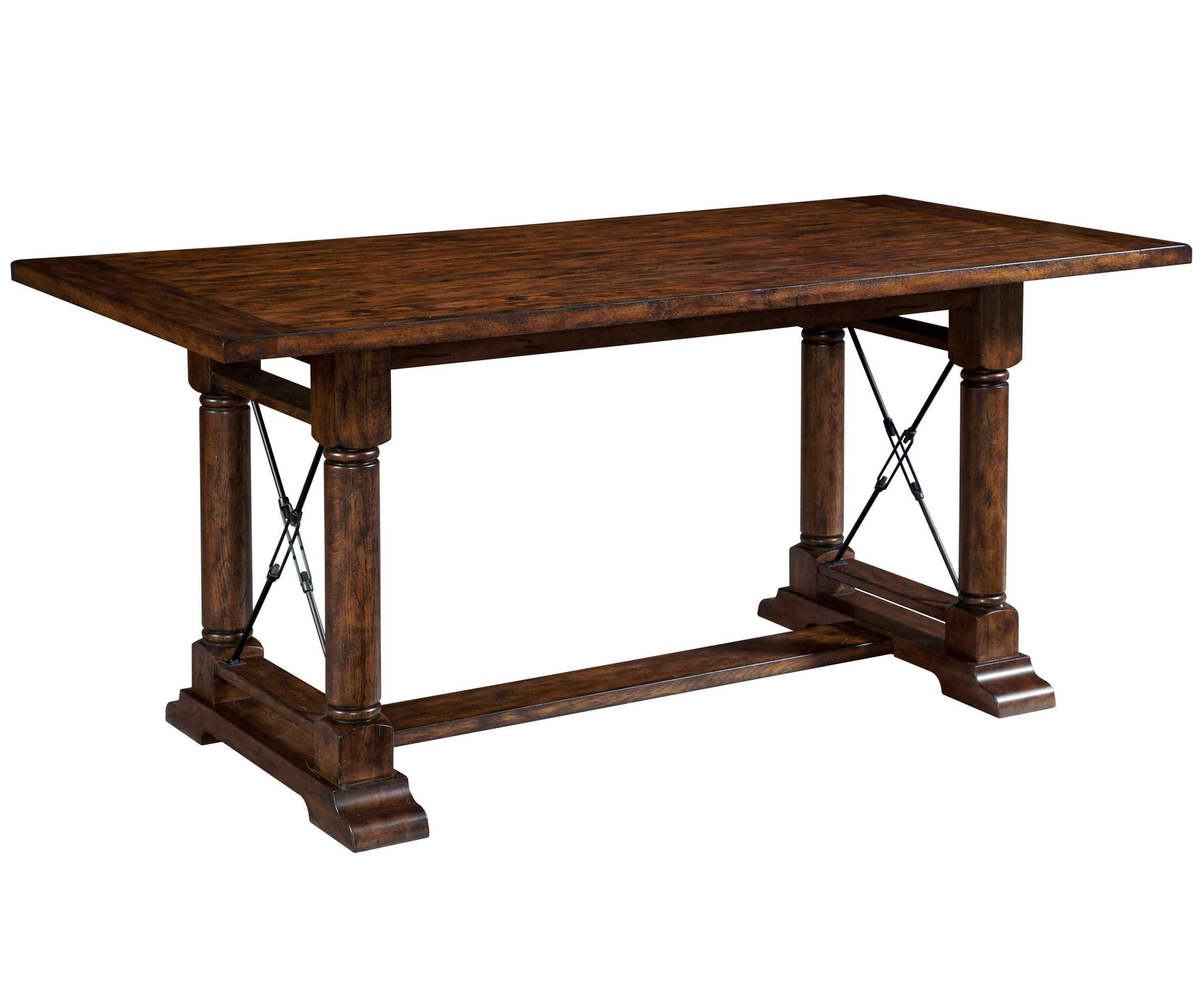 Attic rustic counter height trestle table by broyhill