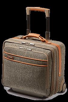 Tweed Belting Rolling Business Bag Natural Tweed