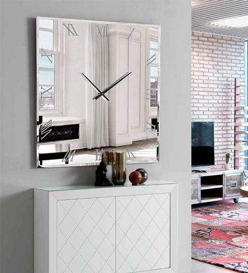 Dis arte reloj murano en 2019 espejos de pared espejos - Relojes para decorar paredes ...