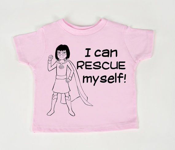 Girl Hero tshirt I can rescue myself  Empowered by geeklingdesigns, $18.00