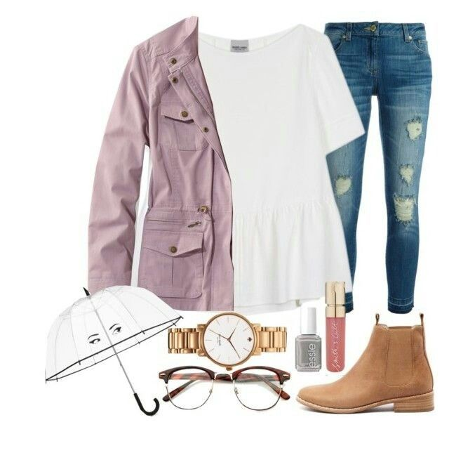 Rainy Day Outfit For School