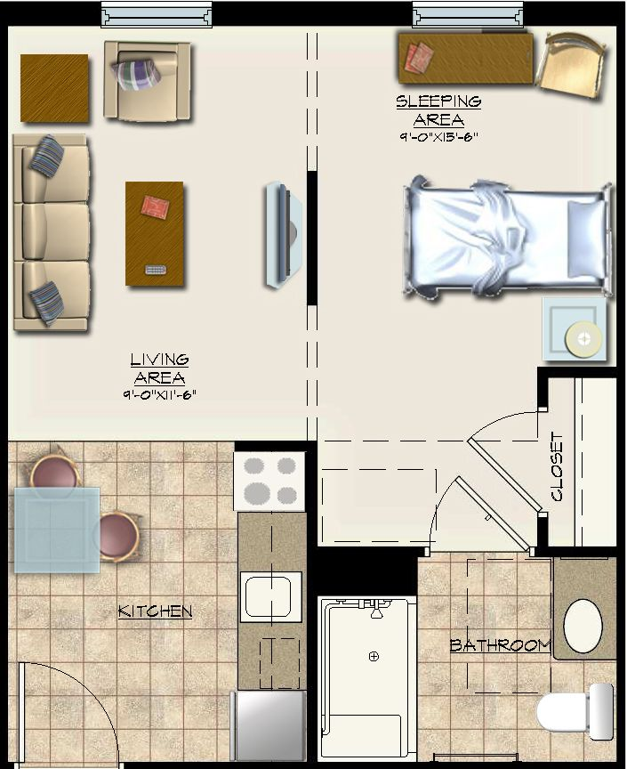 Http Files Nationalchurchresidences Org 2014 01 30 Efficiency Floor Plan Jpg Studio Apartment Layout Atlanta Hotels Imperial Hotel