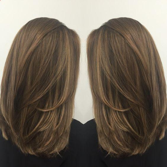 Medium length haircut