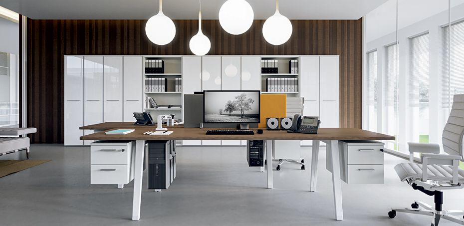 Italian workstation desks E-Place by Della Valentina office | 主管 ...