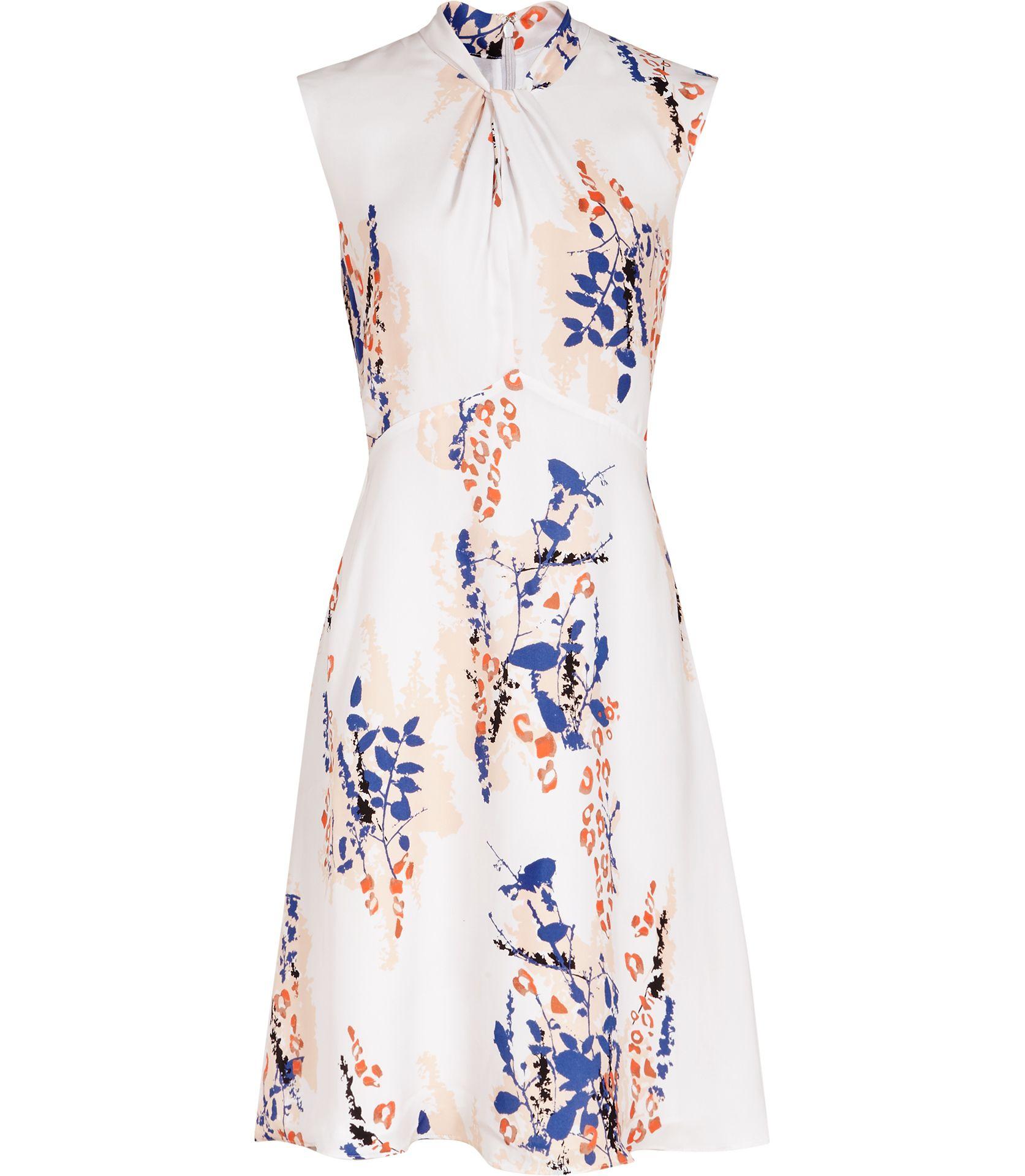 5177d28dc8c1 Womens Multi Neutrals Printed Dress - Reiss Cosmic Floral Print Maxi Dress