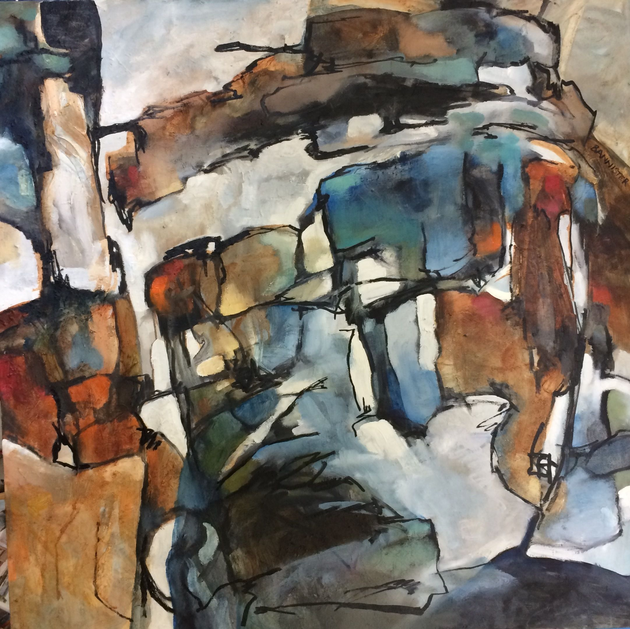 abstract mountain art for sale
