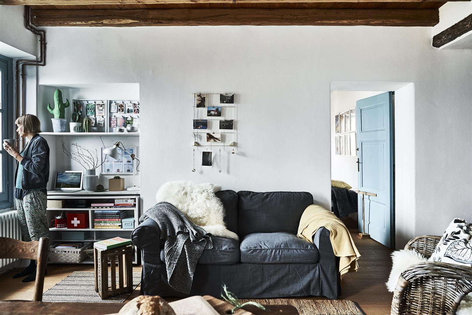 Alte und neue Möbel kombinieren  Klein appartement wonen