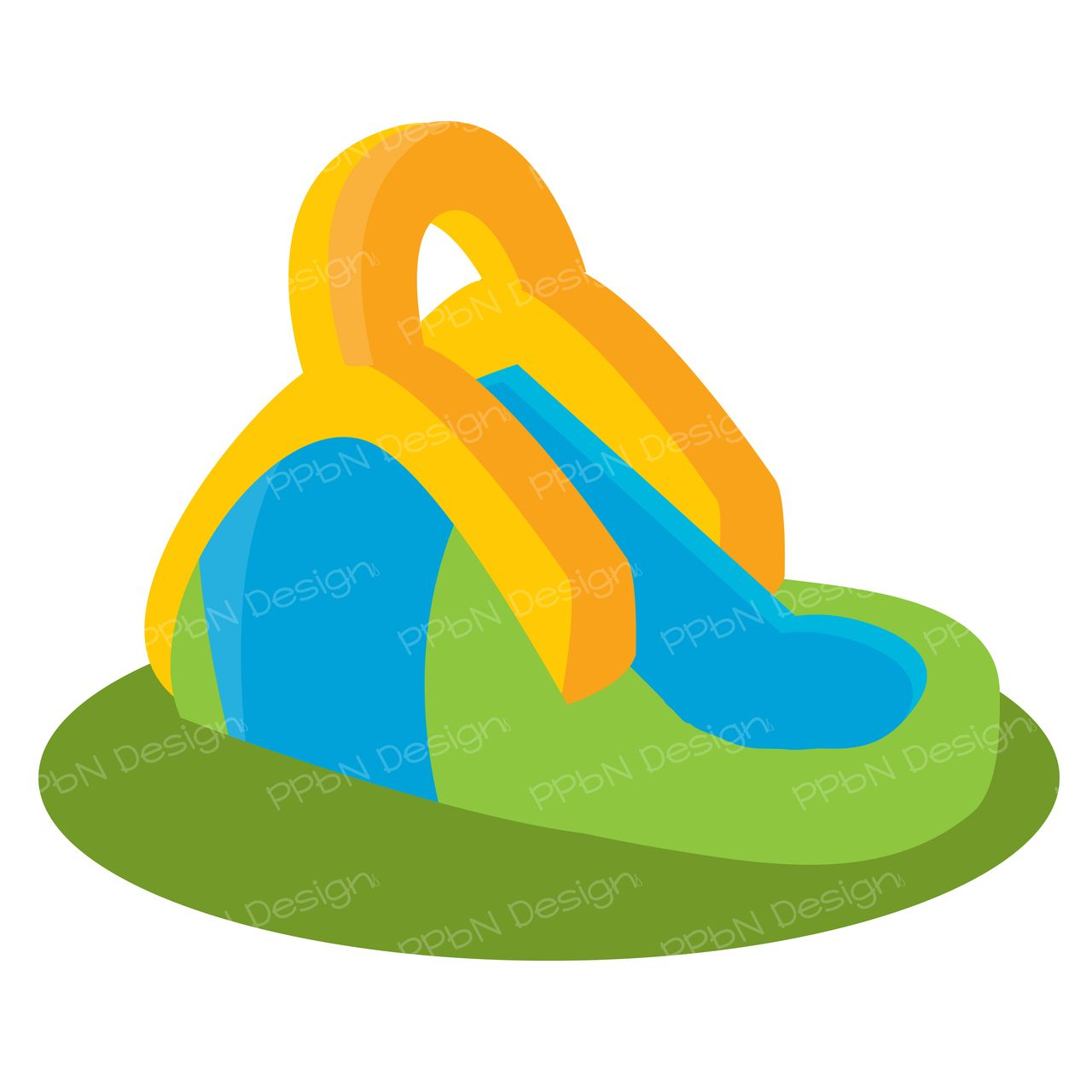 Inflatable Slide Clip Art: Water Slide (SVG Only), $0.00 (http://www