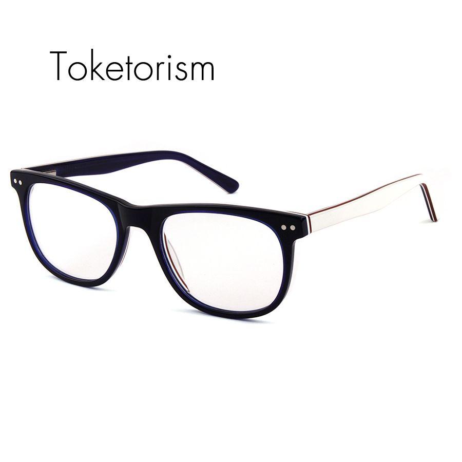 277d1d6dd1c Toketorism New fashion prescription eyewear frame high quality spring hinge  Plate glasses women men optical acetato