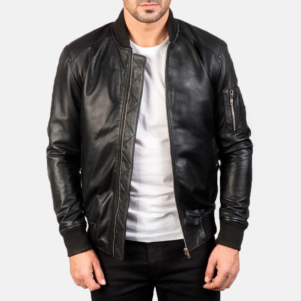 Bomia Ma 1 Black Leather Bomber Jacket Leather Bomber Jacket Black Leather Bomber Jacket Leather Bomber [ 1000 x 1000 Pixel ]