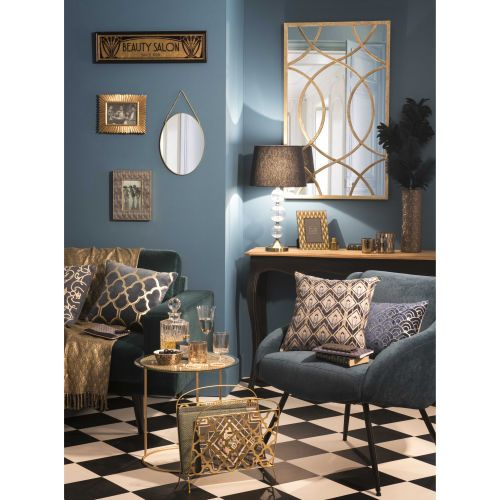 Tendance milord maisons du monde bleu or art d co for Art et decoration salon