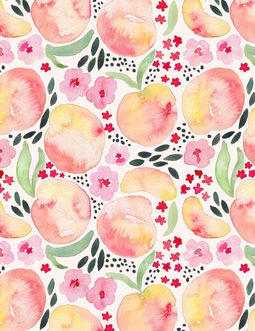 Juliet Meeks Paaches Watercolor Pattern Painting Patterns Free