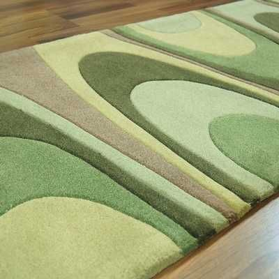 Ha10 15 Warp Green Hall Runner Rugs Buy Online At Modern