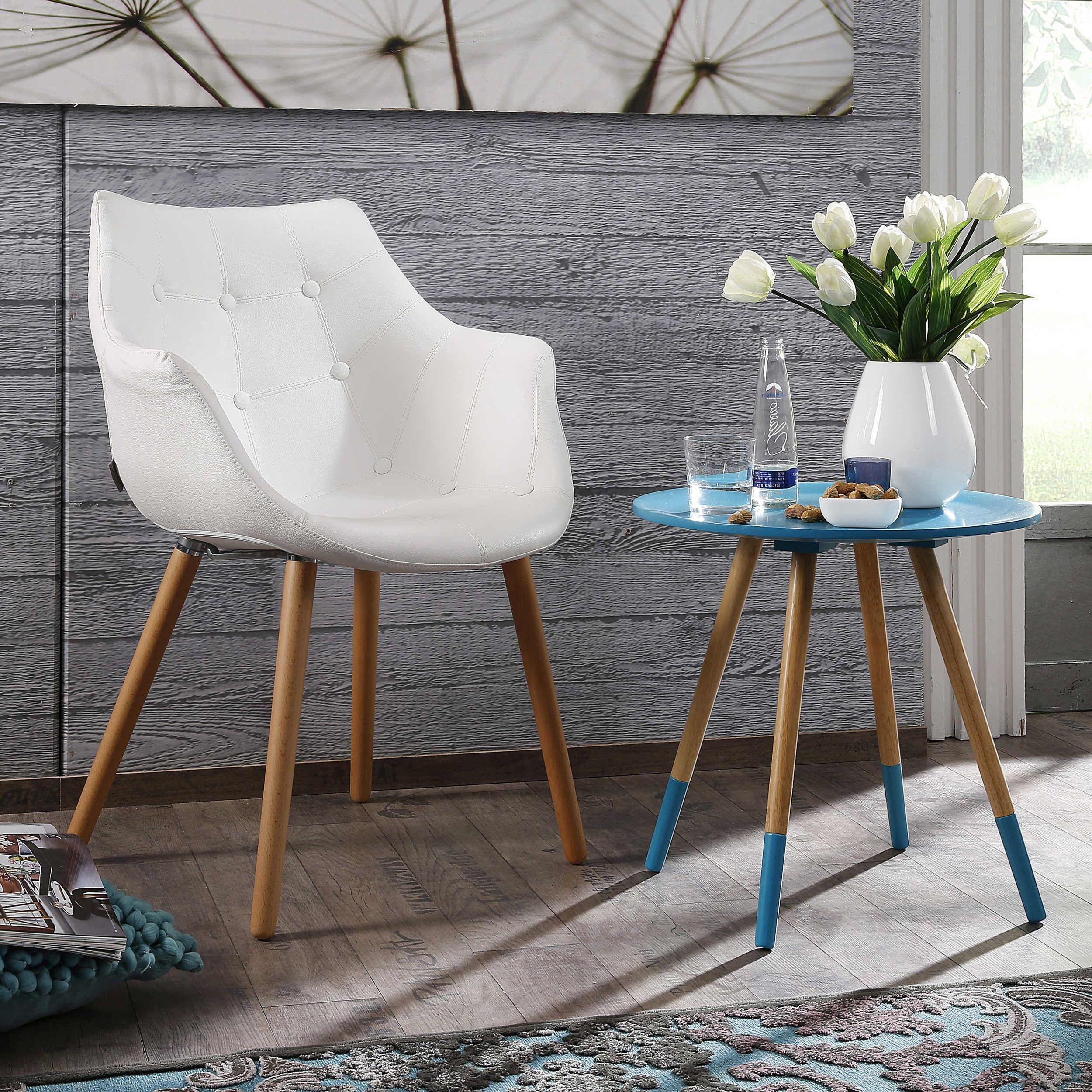 Zuiver Stuhl Eleven Weiß 4 Fuß Stühle Stühle Freischwinger