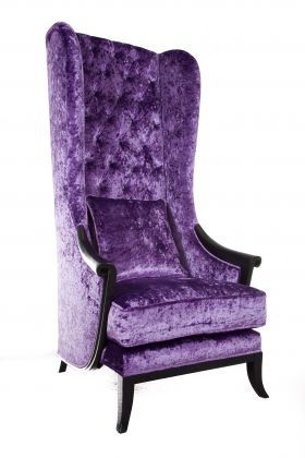 purple high back chair from sofa design asseoir la souverainet pinterest ausgefallene. Black Bedroom Furniture Sets. Home Design Ideas