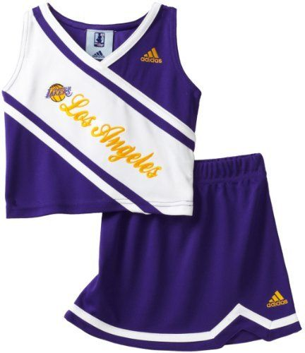 685b9c49d Los Angeles Lakers Adidas 2 pc Cheerleader Outfit Toddler Size 4T Girls  Kids – NBA For Her Collection