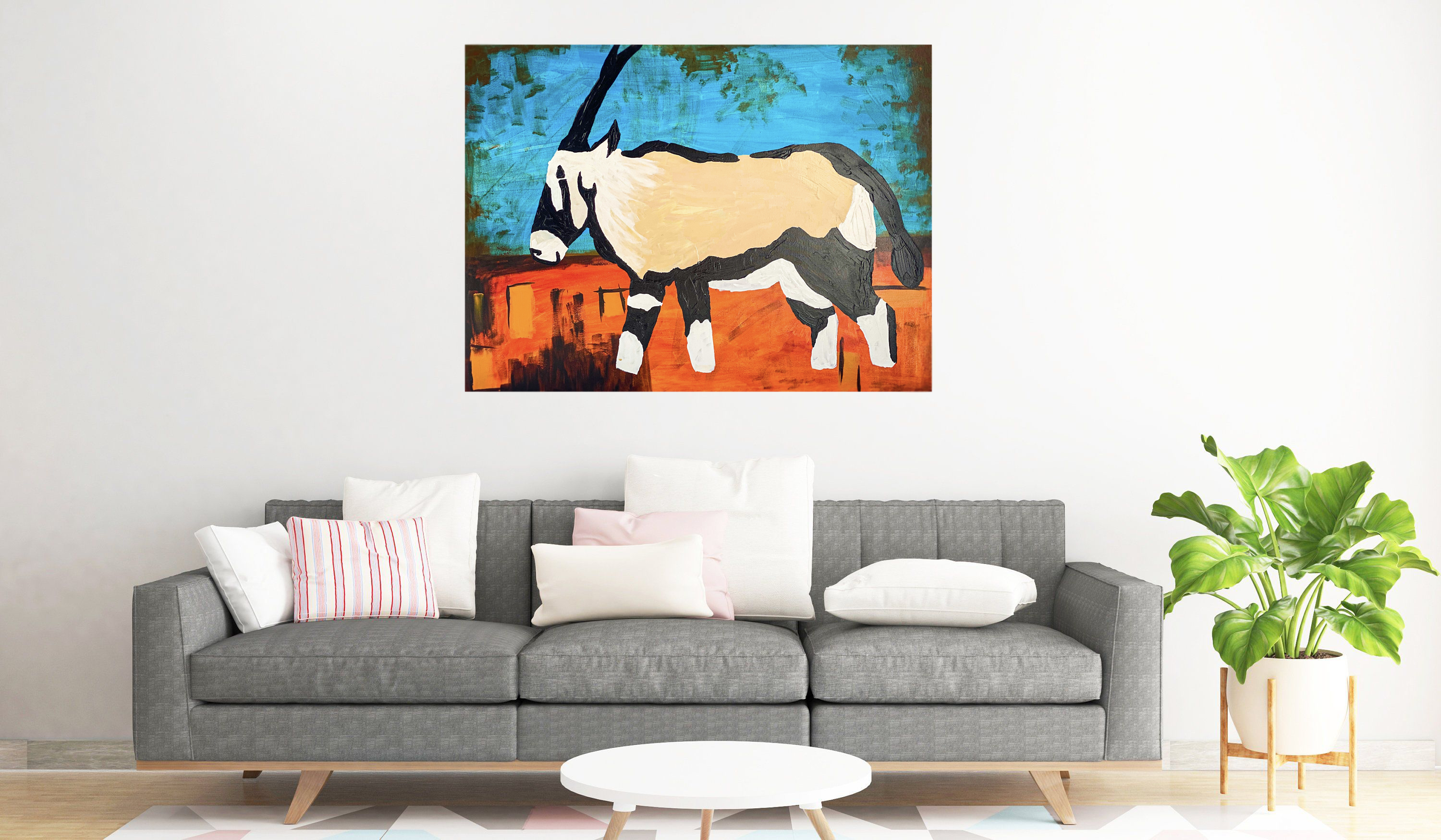 Oryx Original Painting 36 X 48 Wall Art Home Etsy Original Wall Art Original Paintings Wall Art