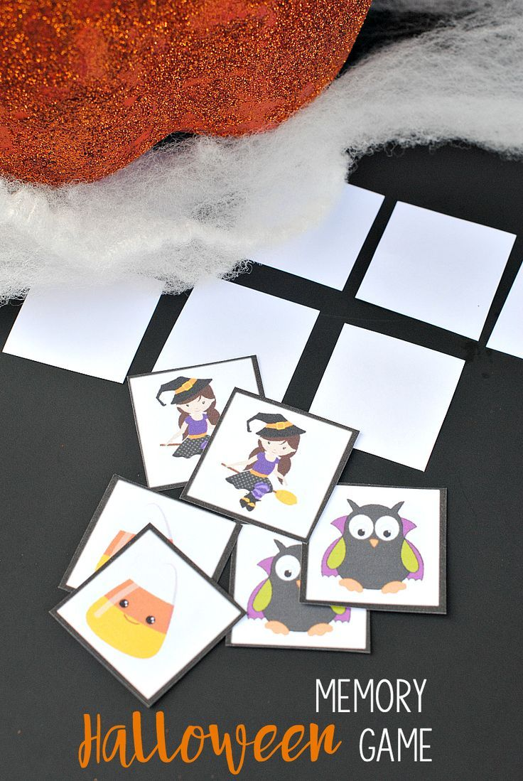 Free Printable Halloween Memory Game Halloween parties, Gaming and - Halloween Decorations For Kids