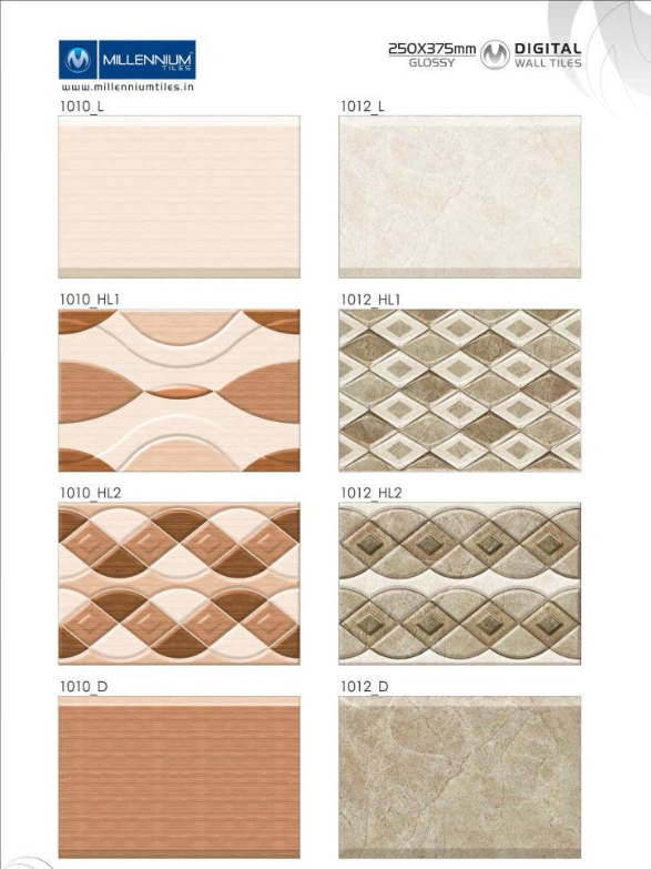 Millennium Tiles 250x375mm Digital Wall Tile Series Wall Tiles Ceramic Wall Tiles Digital Wall