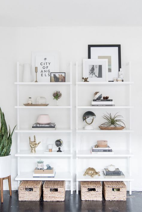 Regale für Flur oder Wohnzimmer, minimalistische Deko rein Home - regale für wohnzimmer
