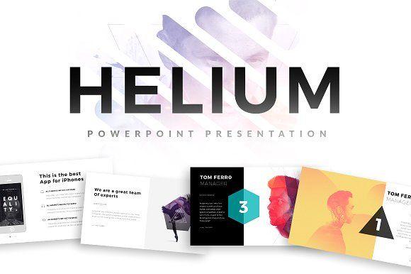 Helium PowerPoint Template by Slidedizer on @creativemarket - powerpoint brochure template