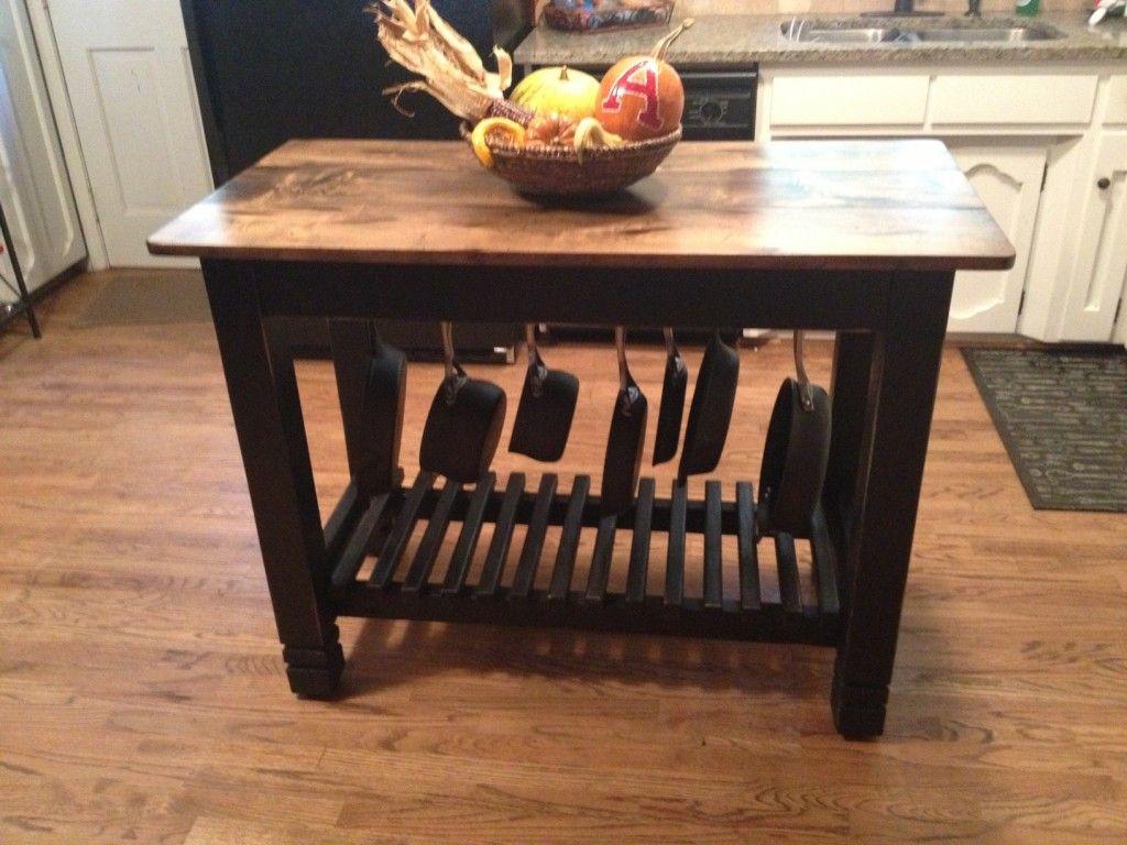 Small Kitchen Island Table Storage24 X 48 Hand Built Kitchen