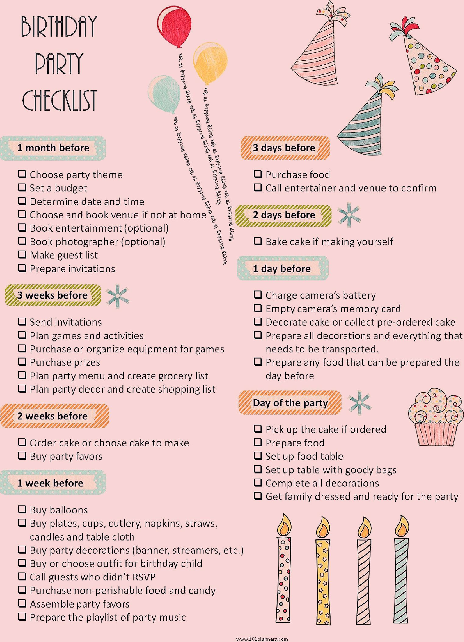 Photo of Party Planning Checklist Printable