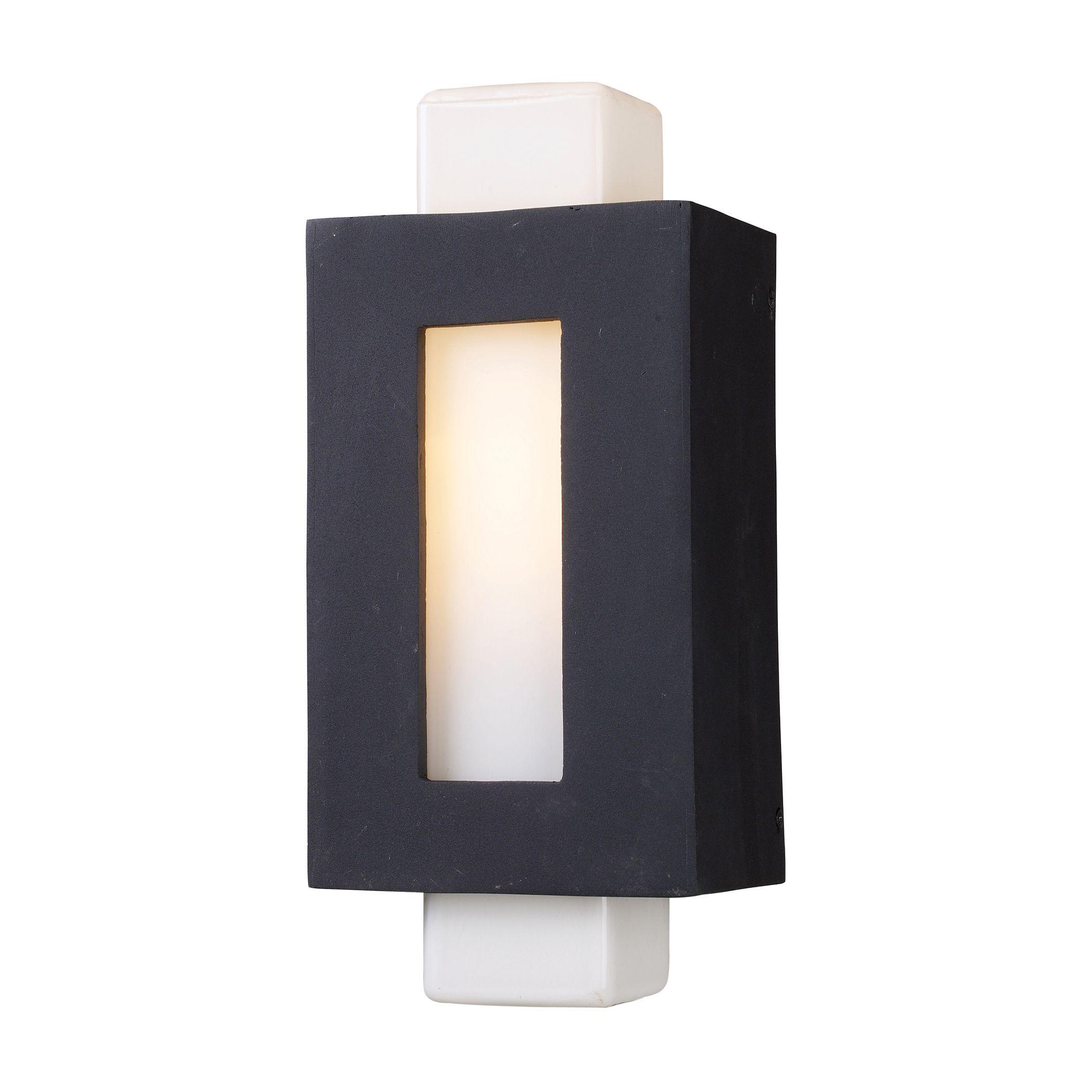 42195/1 Sundborn 1-Light Sconce in Matte Black